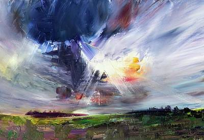 Painting - Skyburst  by Julia S Powell