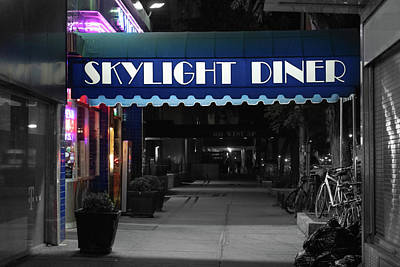 Photograph - Skylight Diner Night by Sharon Popek