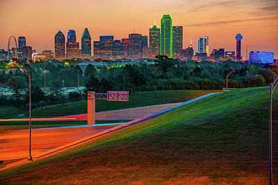 Photograph - Skyline Architecture Of Dallas Texas At Dawn by Gregory Ballos