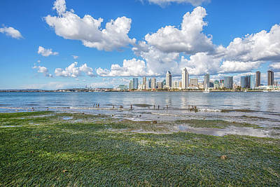 Photograph - Skyline At Low Tide #2 by Joseph S Giacalone