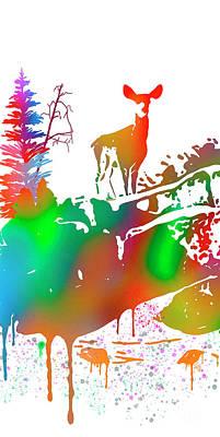 Painting - Skyline Deer Habitat Panel 1l by Dale E Jackson