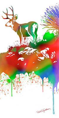Painting - Skyline Deer Habitat Panel 4r by Dale E Jackson