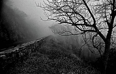 Photograph - Skyline Drive, Foggy Day, 1976 by Bill Jonscher