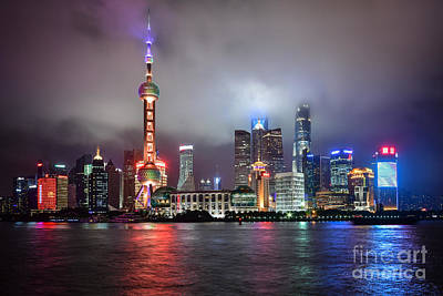 Photograph - Skyline In Shanghai by Steven Liveoak