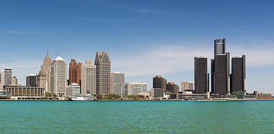 Walking Photograph - Skyline Of Detroit By Day by Pawel.gaul