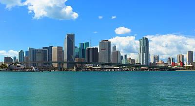 Macarthur Wall Art - Photograph - Skyline Of Miami, Florida by Pawel.gaul