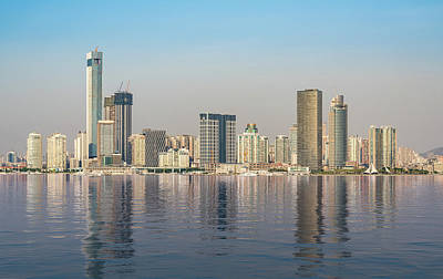Photograph - Skyline Of The City Of Xiamen With Artificial Ocean by Steven Heap