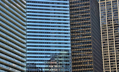 Photograph - Skyscraper Abstract  # 20 - Chicago by Allen Beatty