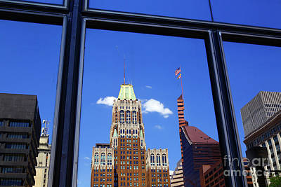Photograph - Skyscraper Reflections Baltimore by James Brunker