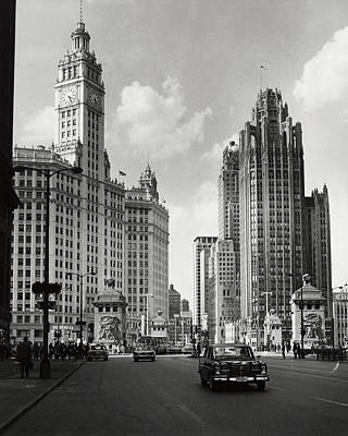 Photograph - Skyscrapers In A City, Chicago by Superstock