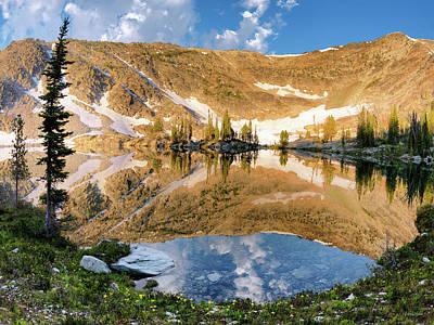 Photograph - Skytop Lake Reflections by Leland D Howard
