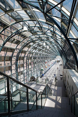 Photograph - Skywalk To Union Station, Toronto by Klaus Lang