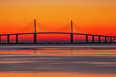 Photograph - Skyway Before Sunrise by Al Hann