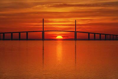 Photograph - Skyway Sunrise 1a by Al Hann