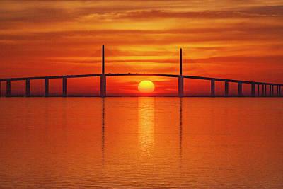 Photograph - Skyway Sunrise 1b by Al Hann