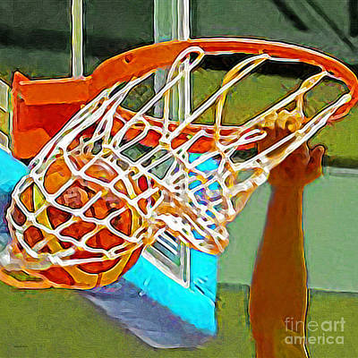 Photograph - Slam Dunk Basketball 20190106 Square by Wingsdomain Art and Photography