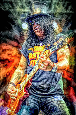 Musicians Royalty Free Images - Slash Musician Royalty-Free Image by Mal Bray