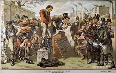 Photograph - Slave Labor Cartoon, 1884 by Bernard Gillam