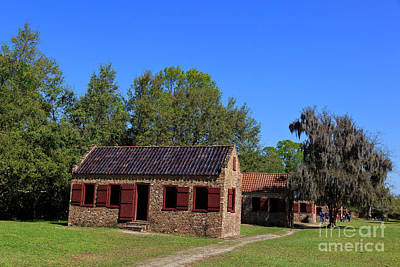 Photograph - Slave Quarters At Boone Hall Plantation In South Carolina by Jill Lang