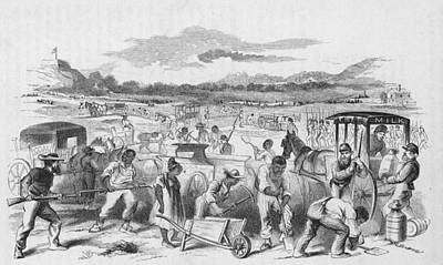Slaves Forced To Work On Nashvillle Art Print by Kean Collection