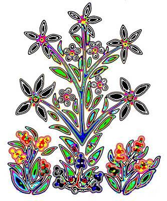 Painting - Slavic Flower #3 by Anthony Mrugacz