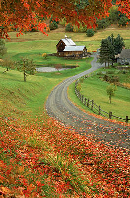Vermont Photograph - Sleepy Hollow Farm, Woodstock, Vt by Charles Benes