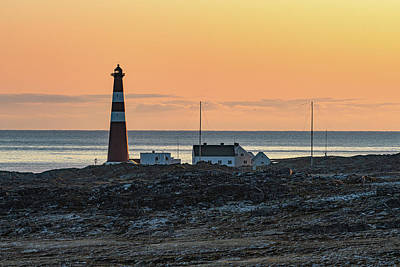 Photograph - Slettnes Lighthouse In The Morning Sun by Arctic FineArt