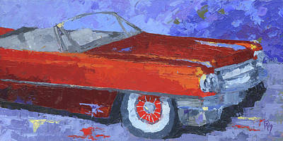 Painting - Slick Red Cadillac by David King