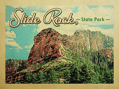 Oak Creek Canyon Wall Art - Digital Art - Slide Rock State Park Arizona by Flo Karp