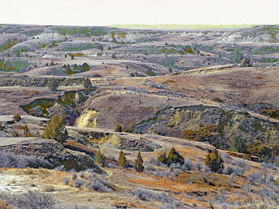 Photograph - Slope County Badlands Reverie by Cris Fulton