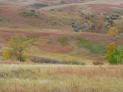 Photograph - Slope County September Hills by Cris Fulton