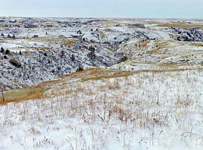 Photograph - Slope County Snowfall by Cris Fulton