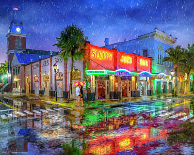 Mixed Media - Sloppy Joe's Bar - Historic Key West Florida by Mark Tisdale