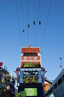 Photograph - Slotzila Zipl Line On Fremont Street Experience, Las Vegas by Tatiana Travelways