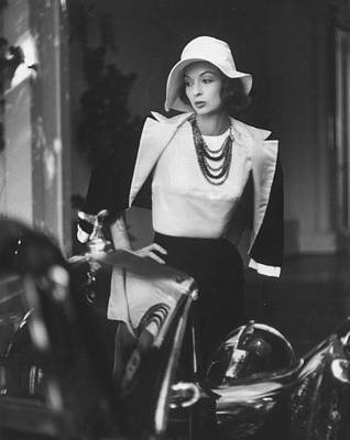 Photograph - Slouch Hat In Garbo Tradition Made Of Wh by Gordon Parks