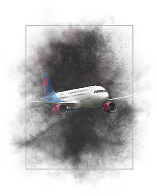 Mixed Media - Slovak Government Flying Service Airbus A319-115 Painting by Smart Aviation