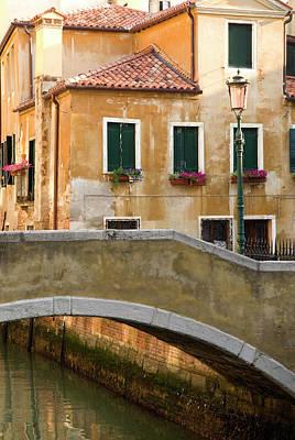 Photograph - Small Bridge Over Side Canal In Venice by Danita Delimont
