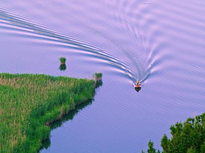 Photograph - Small Fishing Boat Sailing Along Quiet by George Tsafos