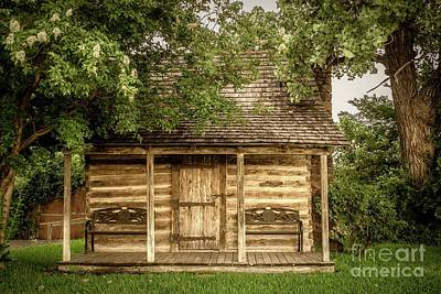 Photograph - Small Log Cabin   by Imagery by Charly