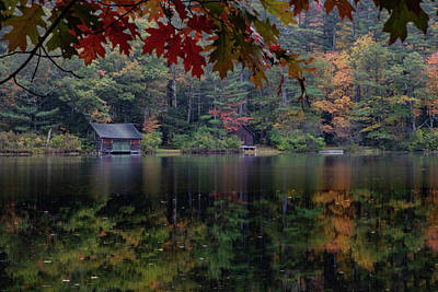 Photograph - Small Pond New Hampshire Autumn by Jeff Folger