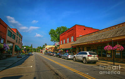 Photograph - Small Town Main Street by Tom Claud