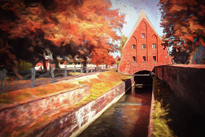 Mistletoe - Small Water Mill Gdansk Poland  by Carol Japp