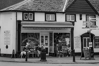 Photograph - Small Welsh Town Black And White  by John McGraw