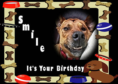 Photograph - Smile Birthday Card Jackie by Kathy K McClellan