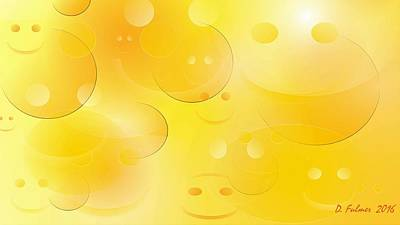 Digital Art - Smile Wide Screen Format by Denise F Fulmer
