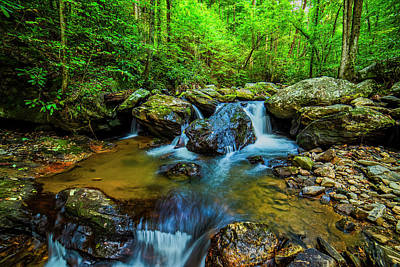Photograph - Smith Creek Cascade by Andy Crawford