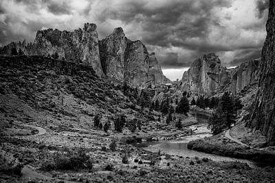 Photograph - Smith Rock Drama by Steven Clark