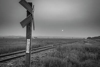 Photograph - Smoke Haze Over The Prairie by Philip Rispin