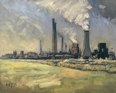 Smoke Stacks Prins Maurits Mine Art Print