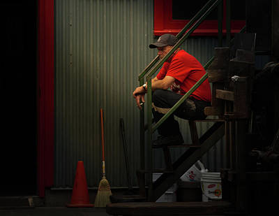 Photograph - Smoker In Red No. 2 by Juan Contreras